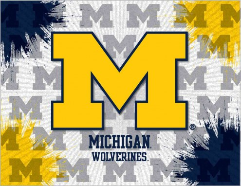 Michigan Wolverines Logo Canvas Print