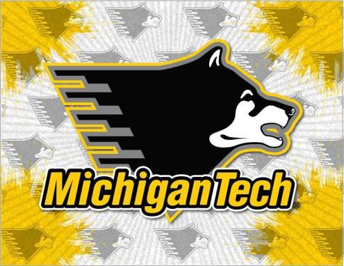 Michigan Tech Huskies Logo Canvas Print