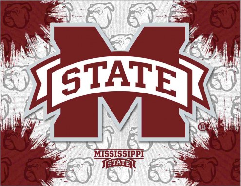 Mississippi State Bulldogs Logo Canvas Print