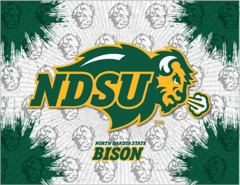 North Dakota State Bison Logo Canvas Print