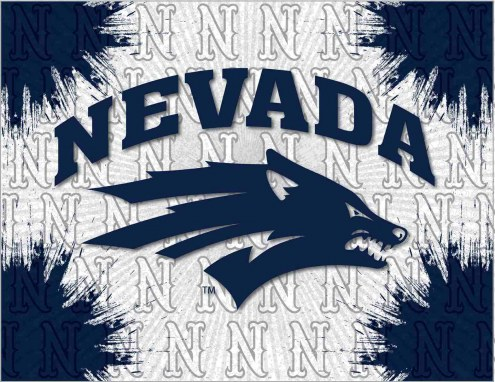 Nevada Wolf Pack Logo Canvas Print