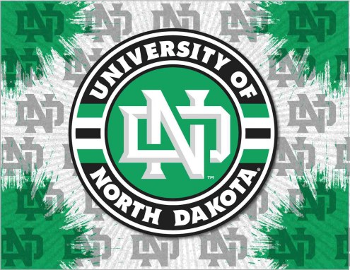 North Dakota Fighting Hawks Logo Canvas Print