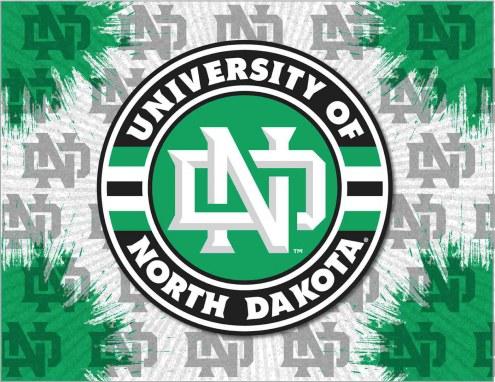 North Dakota Fighting Hawks Logo Canvas Print
