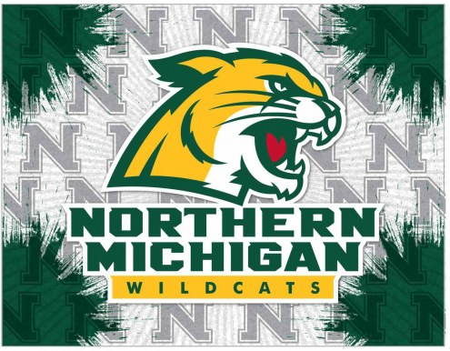 Northern Michigan Wildcats Logo Canvas Print