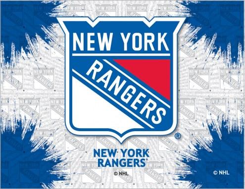 New York Rangers Logo Canvas Print