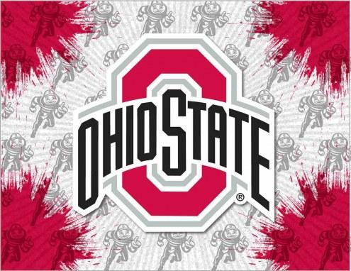 Ohio State Buckeyes Logo Canvas Print
