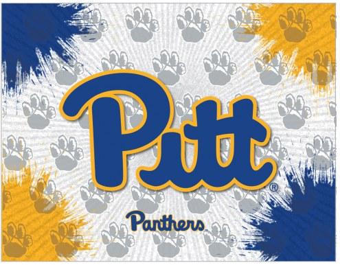 Pittsburgh Panthers Logo Canvas Print