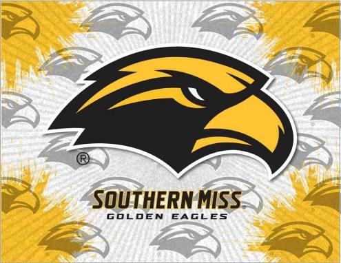 Southern Mississippi Golden Eagles Logo Canvas Print