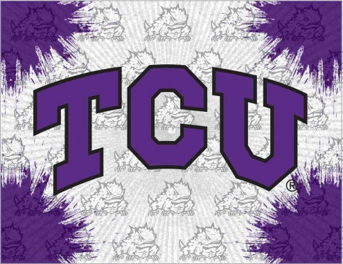 Texas Christian Horned Frogs Logo Canvas Print