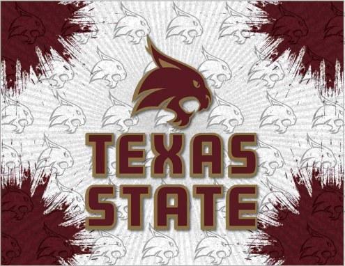 Texas State Bobcats Logo Canvas Print