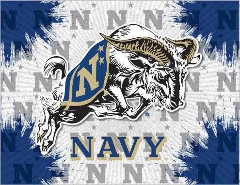 Navy Midshipmen Logo Canvas Print