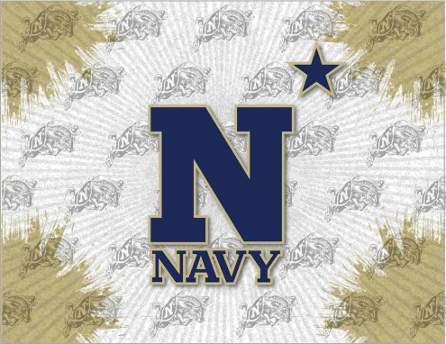 Navy Midshipmen Logo Canvas Print