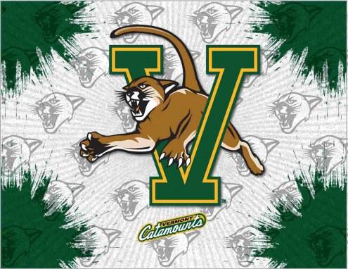 Vermont Catamounts Logo Canvas Print