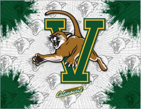 Vermont Catamounts Logo Canvas Print