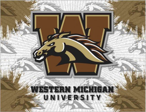 Western Michigan Broncos Logo Canvas Print