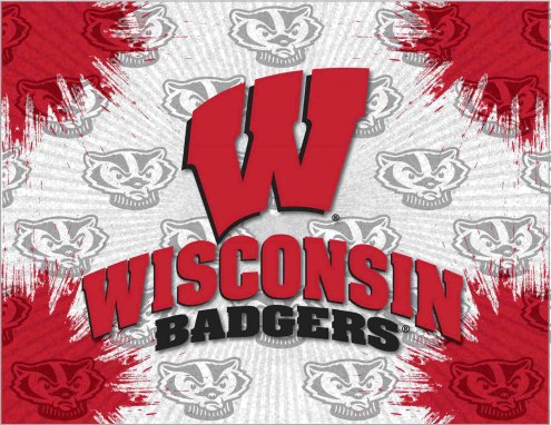 Wisconsin Badgers Logo Canvas Print