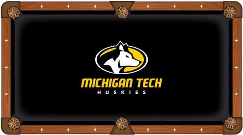 Michigan Tech Huskies Pool Table Cloth