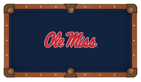 Mississippi Rebels Pool Table Cloth