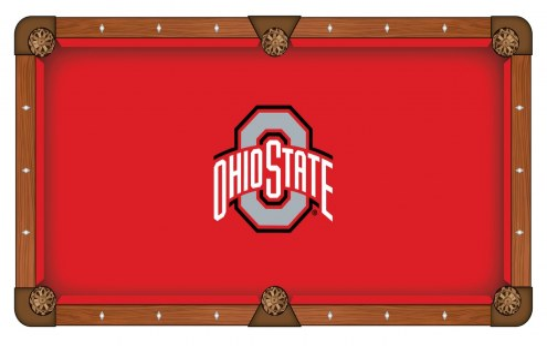 Ohio State Buckeyes Pool Table Cloth