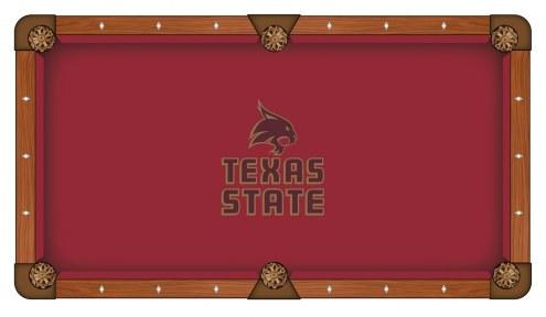 Texas State Bobcats Pool Table Cloth