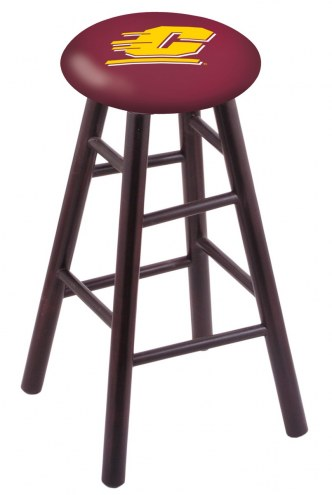 Central Michigan Chippewas Maple Wood Bar Stool