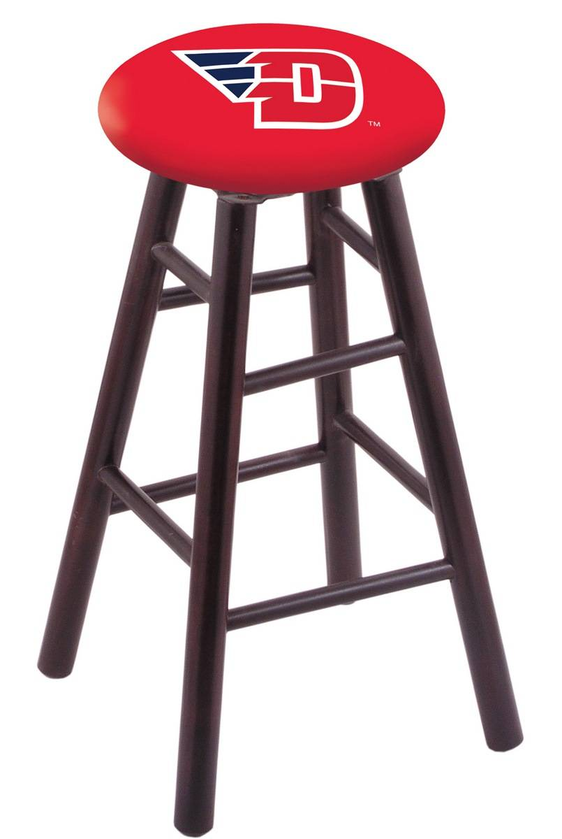 Dayton Flyers Maple Wood Bar Stool