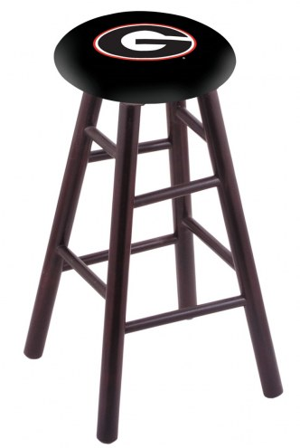 Georgia Bulldogs Maple Wood Bar Stool