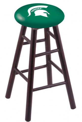 Michigan State Spartans Maple Wood Bar Stool