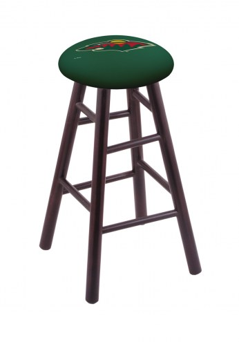 Minnesota Wild Maple Wood Bar Stool