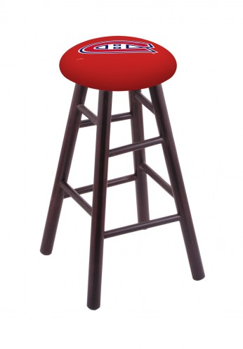 Montreal Canadiens Maple Wood Bar Stool