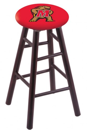 Maryland Terrapins Maple Wood Bar Stool