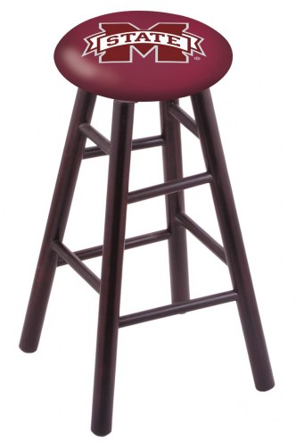 Mississippi State Bulldogs Maple Wood Bar Stool