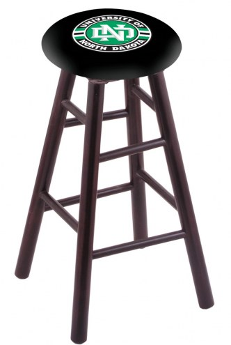 North Dakota Fighting Hawks Maple Wood Bar Stool