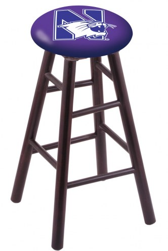 Northwestern Wildcats Maple Wood Bar Stool
