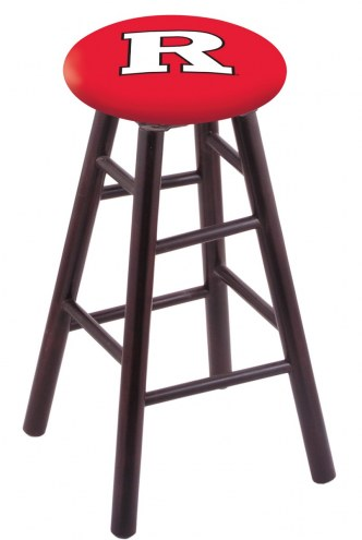 Rutgers Scarlet Knights Maple Wood Bar Stool