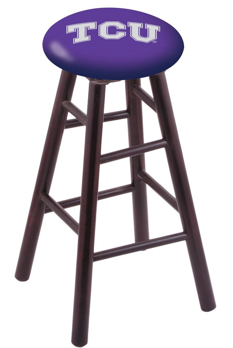 Texas Christian Horned Frogs Maple Wood Bar Stool