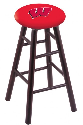 Wisconsin Badgers Maple Wood Bar Stool