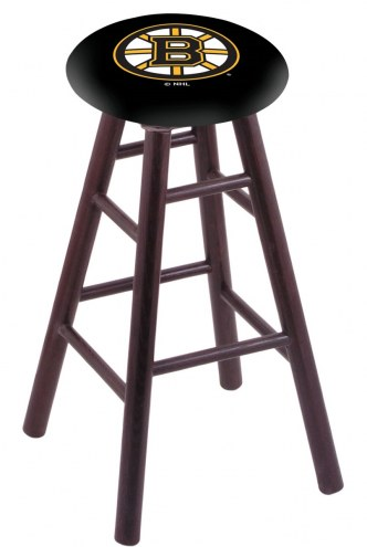 Boston Bruins Oak Wood Bar Stool