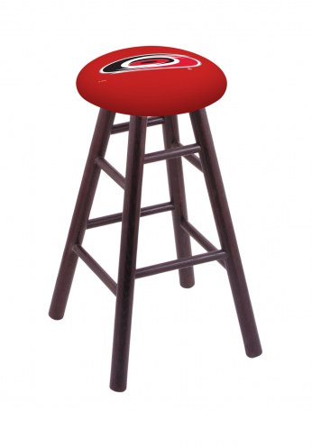 Carolina Hurricanes Oak Wood Bar Stool