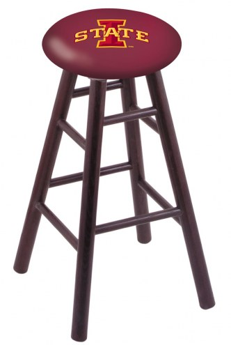 Iowa State Cyclones Oak Wood Bar Stool
