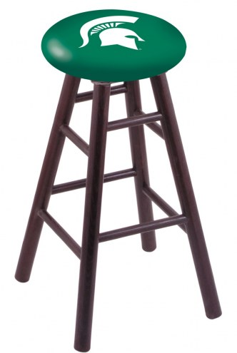 Michigan State Spartans Oak Wood Bar Stool