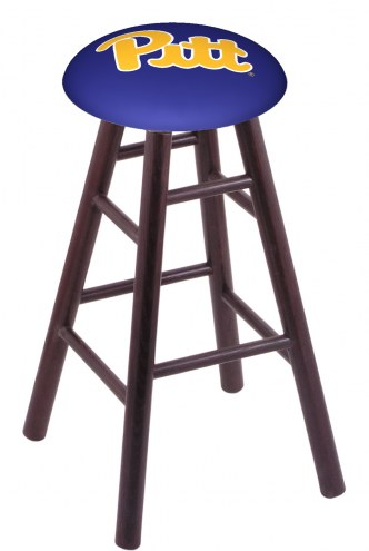 Pittsburgh Panthers Oak Wood Bar Stool
