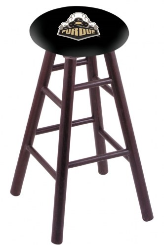 Purdue Boilermakers Oak Wood Bar Stool