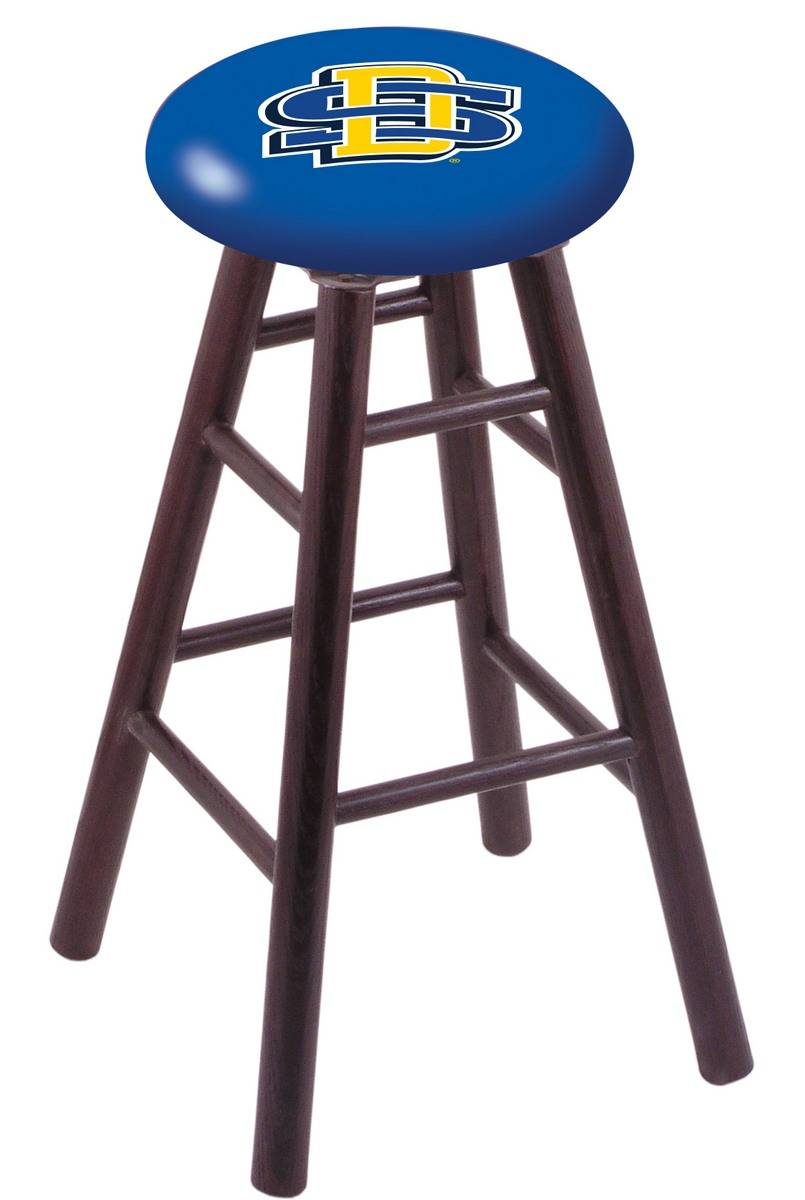 South Dakota State Jackrabbits Oak Wood Bar Stool