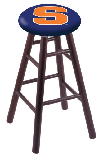 Syracuse Orange Oak Wood Bar Stool