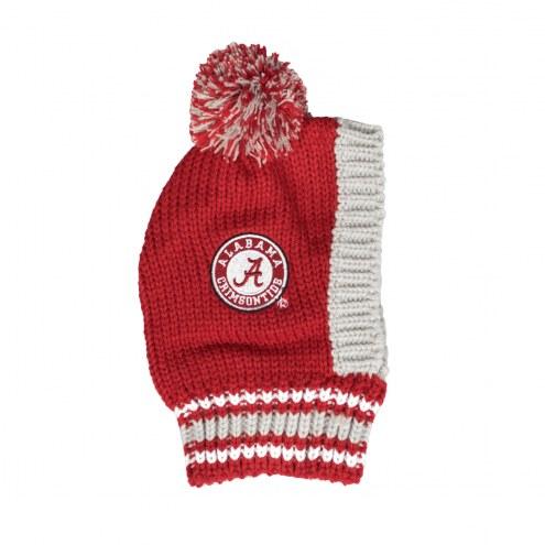 Alabama Crimson Tide Knit Dog Hat