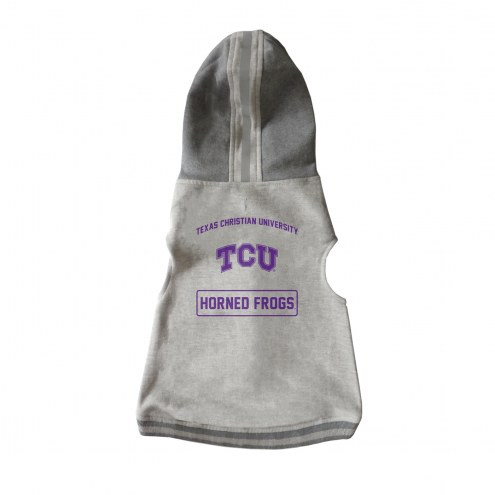 Texas Christian Horned Frogs Dog Hooded Crewneck