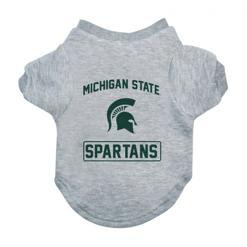 Michigan State Spartans Gray Dog Tee