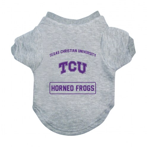 Texas Christian Horned Frogs Gray Dog Tee