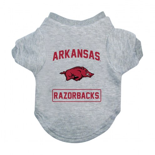 Arkansas Razorbacks Gray Dog Tee
